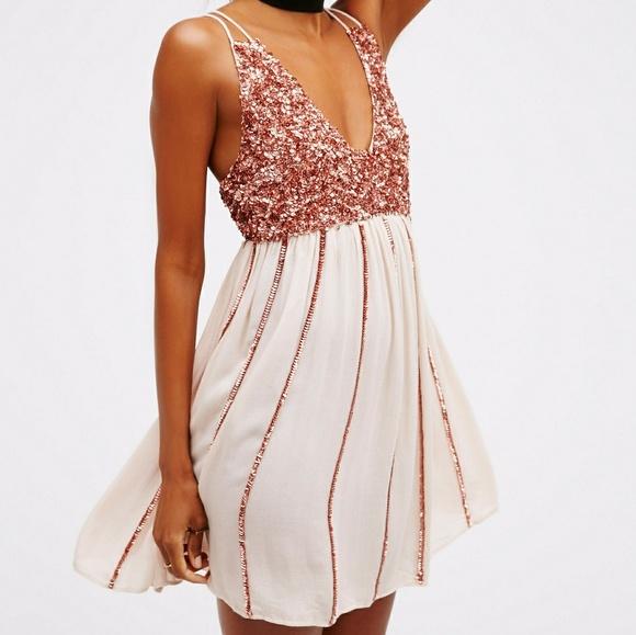 f5d4f949020 Free People Dresses | F R E E P E O P L E Glitter Girl Slip Dress ...